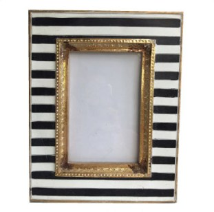 Black Striped Photo Frame