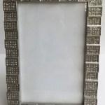 Photo Frame Diamond Silver color