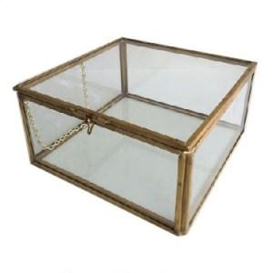 Large Glass Box Museum Artifact Davinci Code