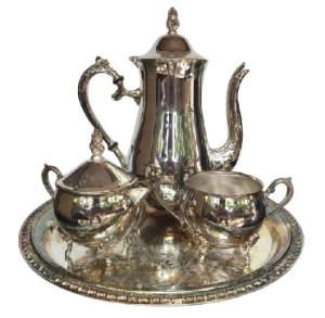 Silver Serverware Tea set Tea Pot in silver