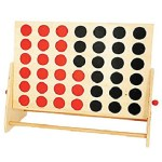 Old Fashioned Four in a Row Game Wooden