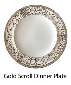 gold scroll dinner plate charger holiday