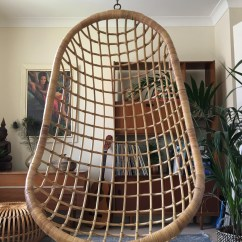 White Bohemian Hanging Chair Camping Chairs Costco 1970s Boho Vintage Wicker