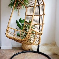 White Bohemian Hanging Chair Kings For Sale 1970s Boho Vintage Wicker