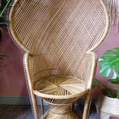 Old Wicker Chairs Uk Stool Chair Size Vintage 1970s Peacock