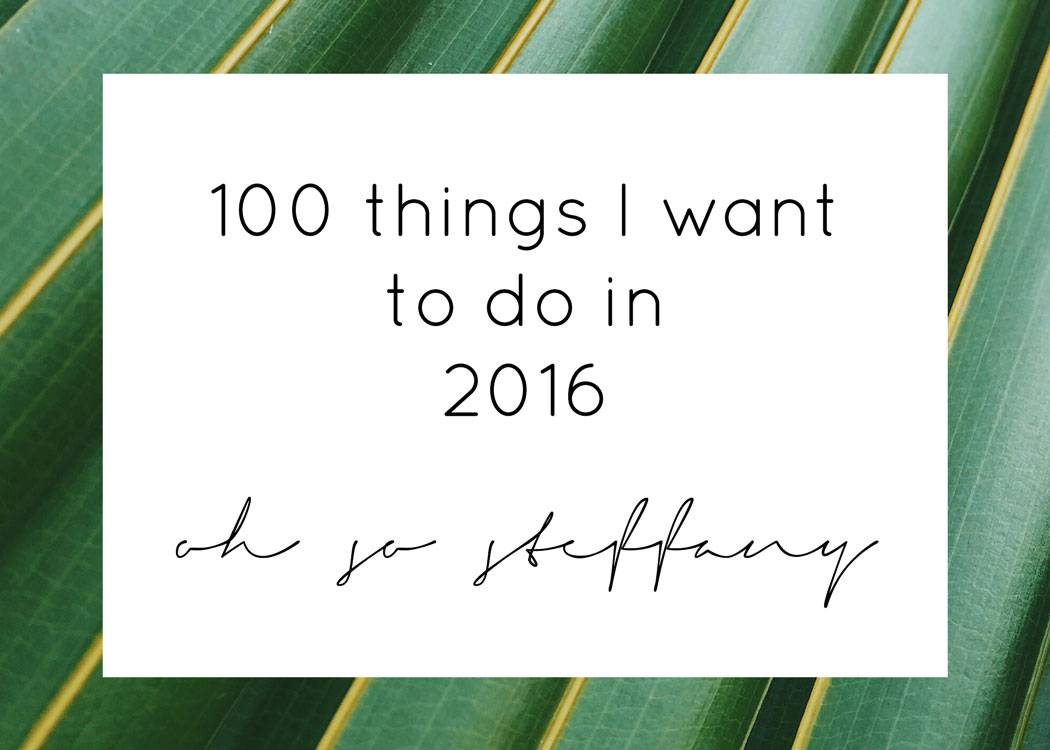 2016-Bucket-List