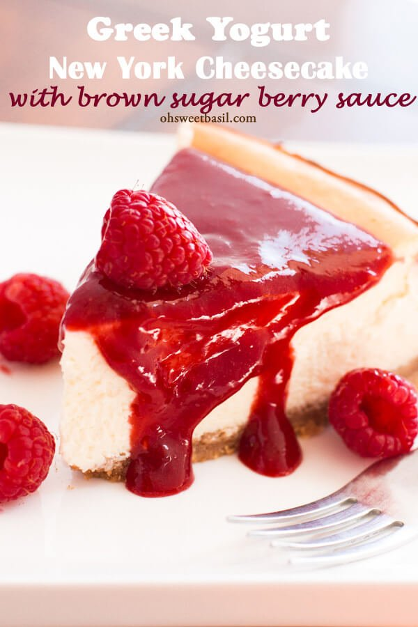 Greek Yogurt New York Cheesecake Recipe Oh Sweet Basil