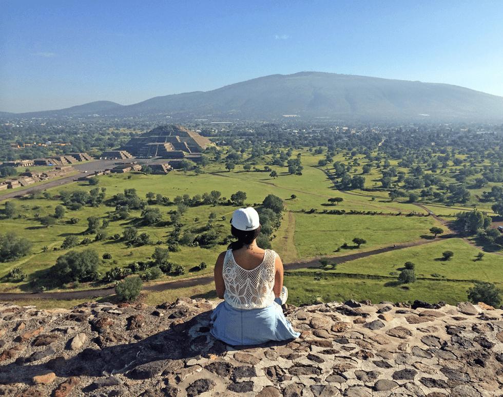 Vista da Pirâmide do Sol, em Teotihuacán