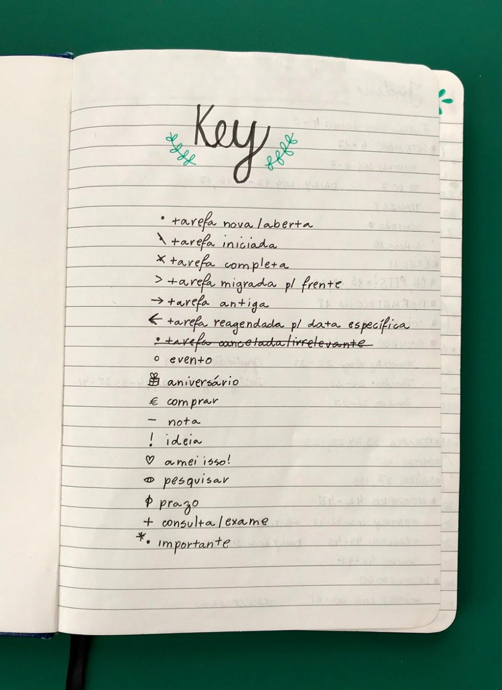 Key - Bullet Journal