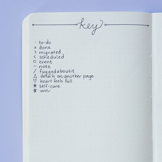 Key - Bullet Journal