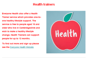 health trainers oh well