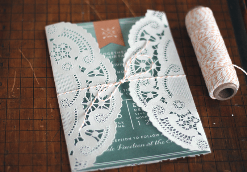 Owl Lace Invitation Sleeve