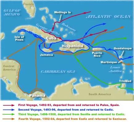Christopher <b>Columbus</b>' <b>Voyages</b>