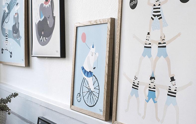 Circus posters op de kinderkamer!