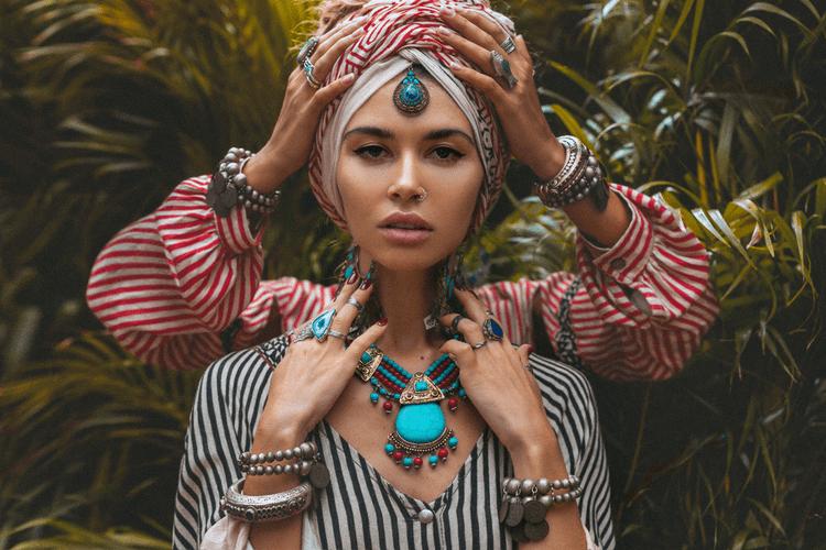 stijl turban beauty jewelry