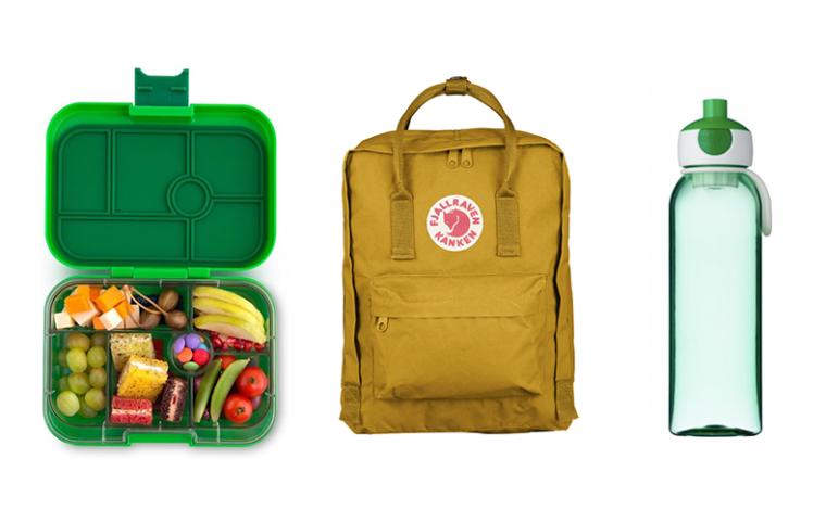 schooltas en lunchbox