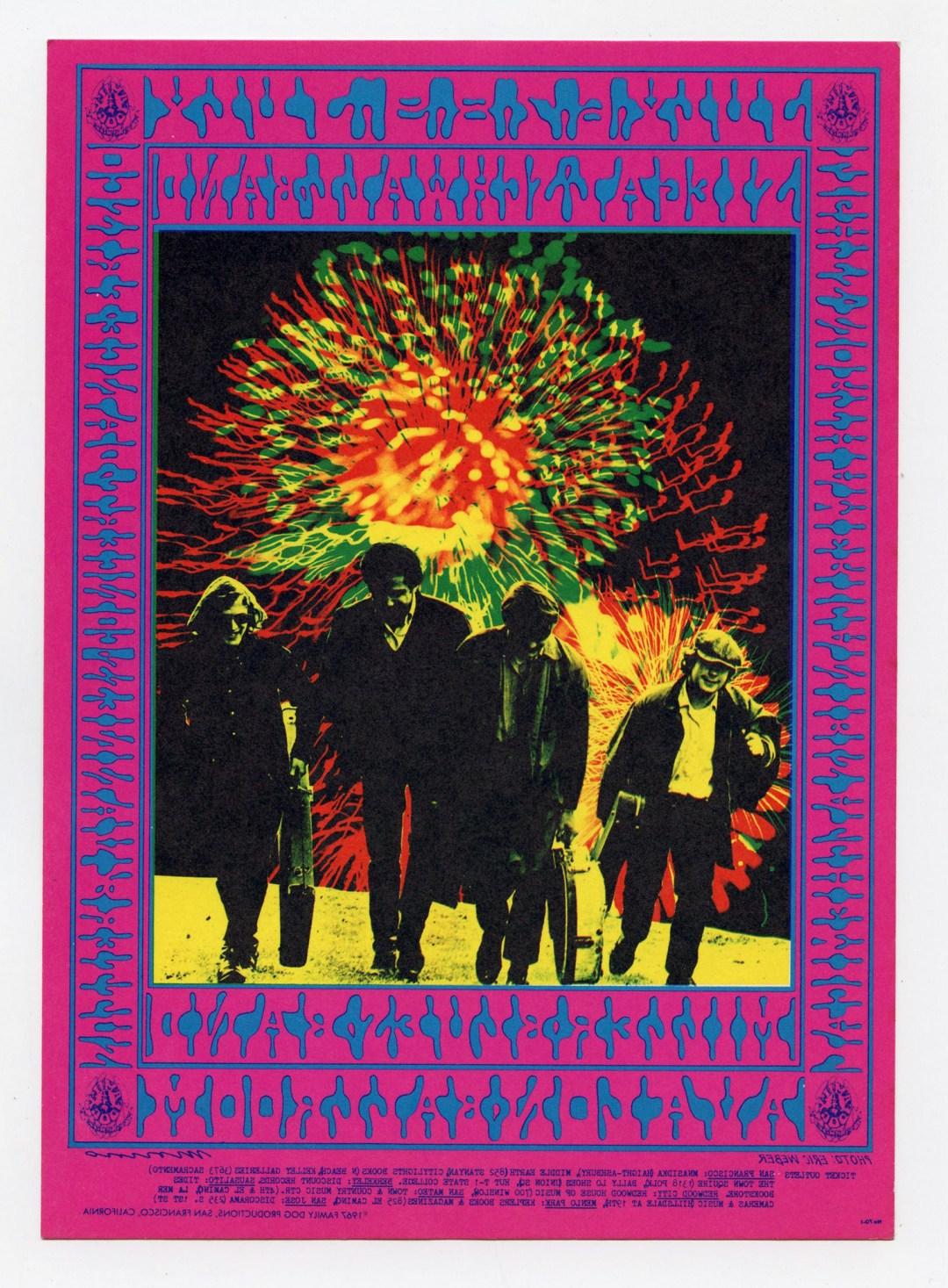 Family Dog 070 Postcard Chicago Fire 1967 Jul 6 Siegal Schwall Steve Miller