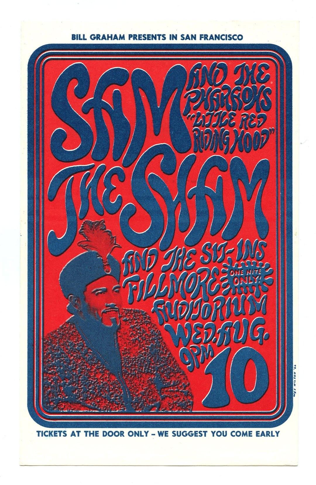 Bill Graham 022 Postcard Sam the Sham & the Pharaohs Sit-ins 1966 Aug 10