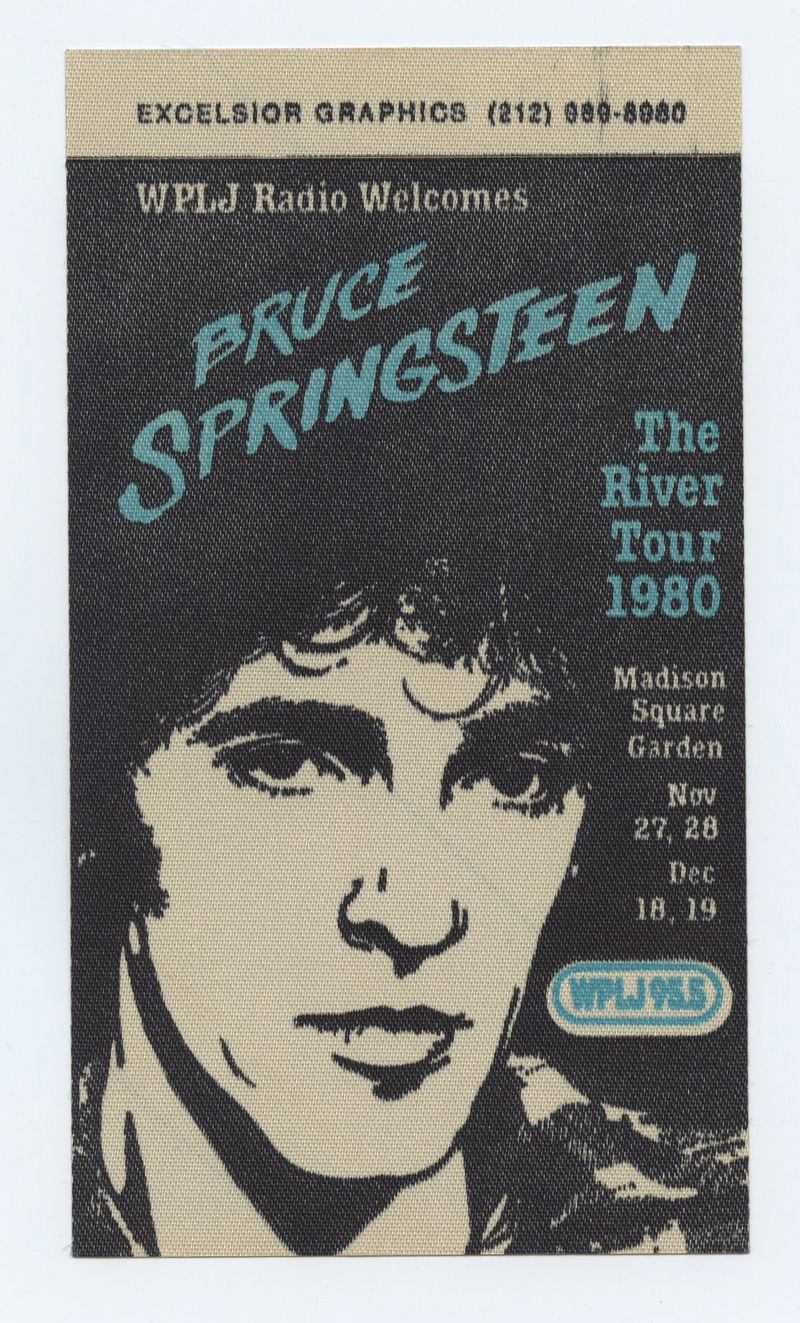 Bruce Springsteen Backstage pass The River Tour 1980 Madison Square Garden 1980 Nov 27