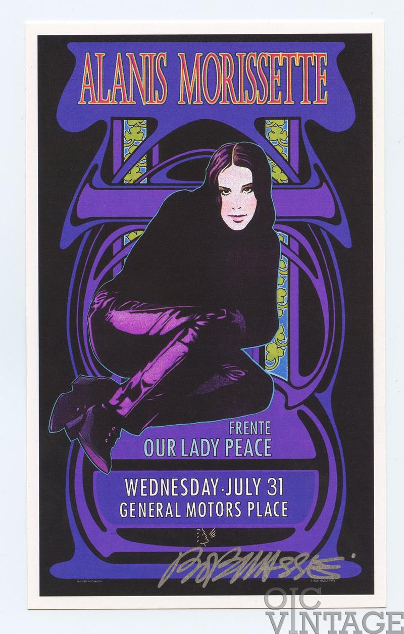 Alanis Morissette Handbill 1996 Jul 31 Vancouver Canada