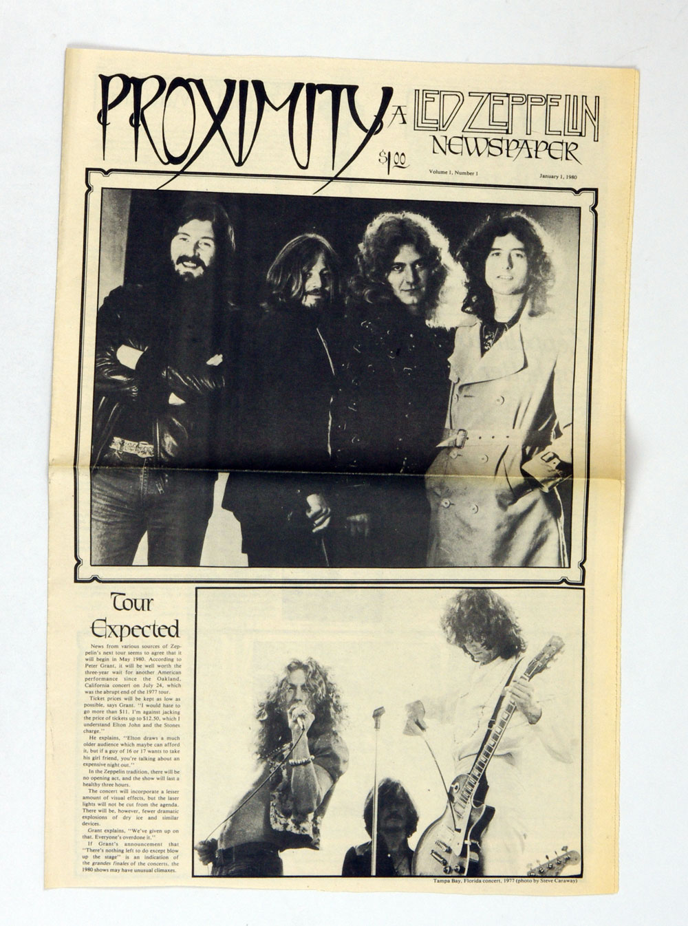 Led Zeppelin Fanzine Proximity Vol. 1 thru Vol 8 Complete Set 1980 thru 1981