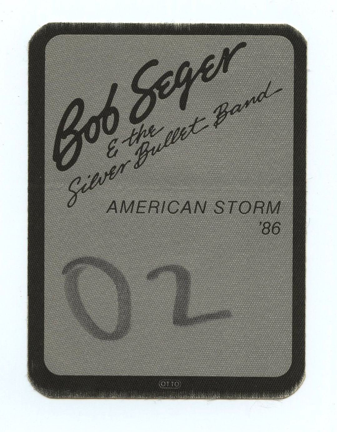 Bob Seger & The Silver Bullet Band Backstage Pass 1986 American Storm Tour