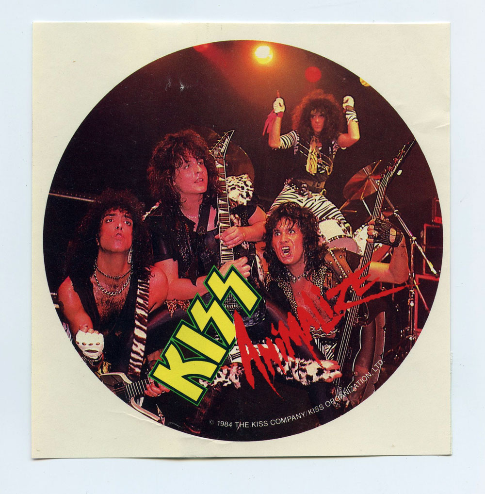 KISS  Sticker Decal 1984 Vintage