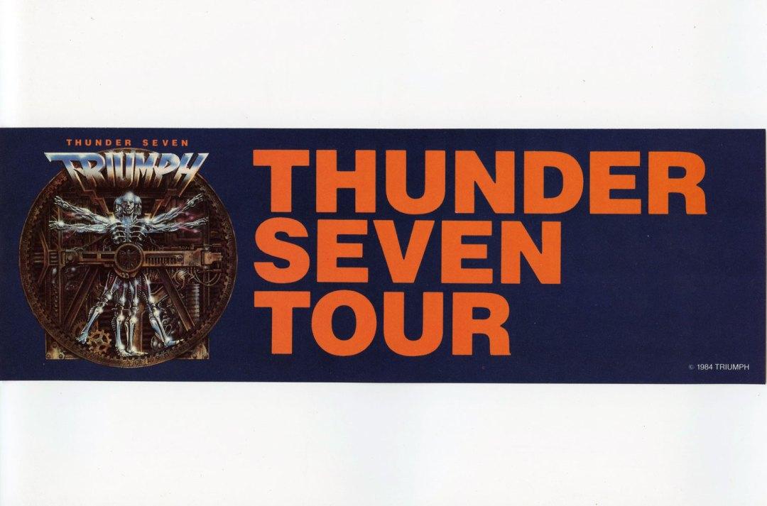 Thunder Seven Triumph Sticker Decal 1984 Vintage