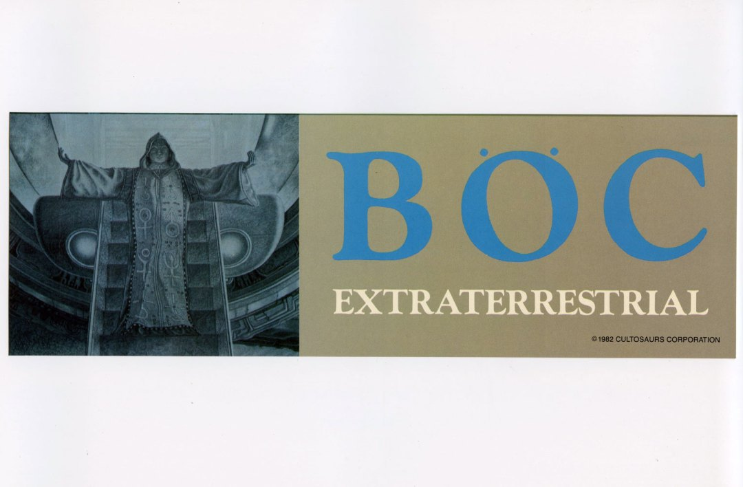 Blue Oyster Cult Sticker Decal Extraterrestrial Live 1982 Vintage