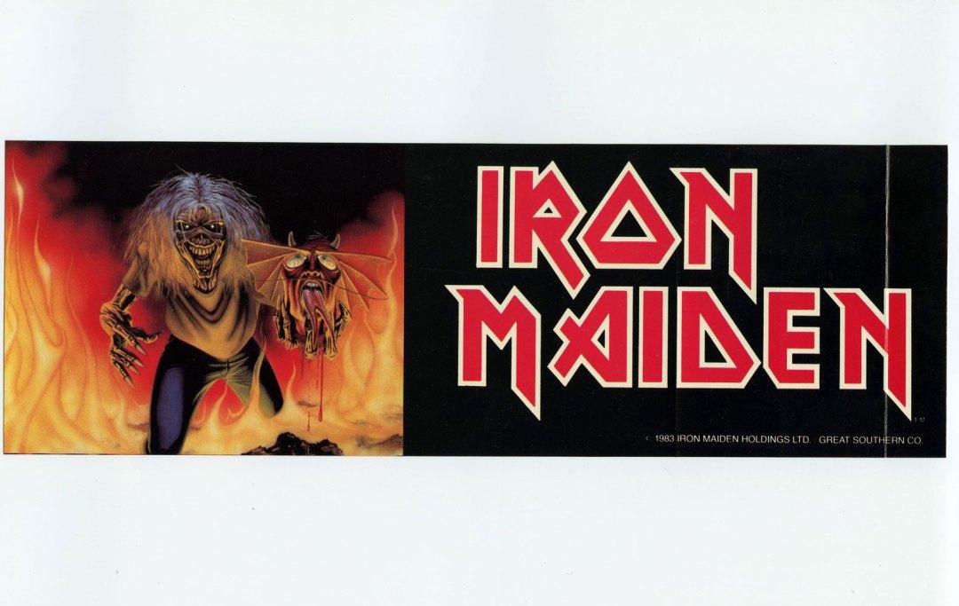 Iron Maiden Sticker 1983 Vintage
