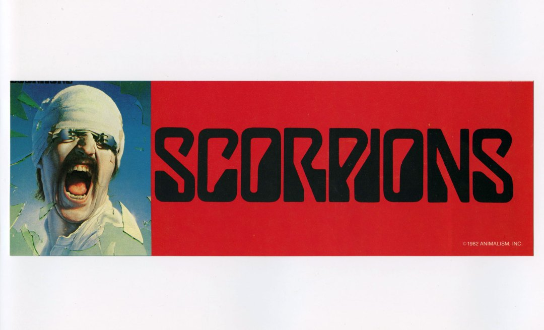 Scorpions Sticker Decal 1982 Vintage