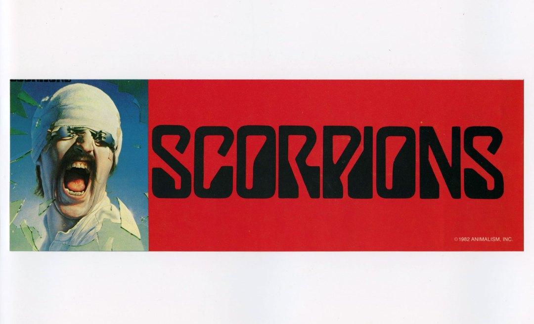 Scorpions Sticker 1982 Vintage