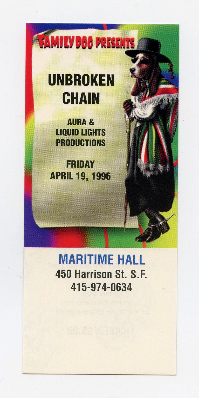 Maritime Hall 1996 Apr Ticket Unbroken Chain