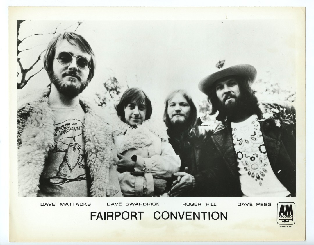 Fairport Convention Photo A&M Records  Original Vintage