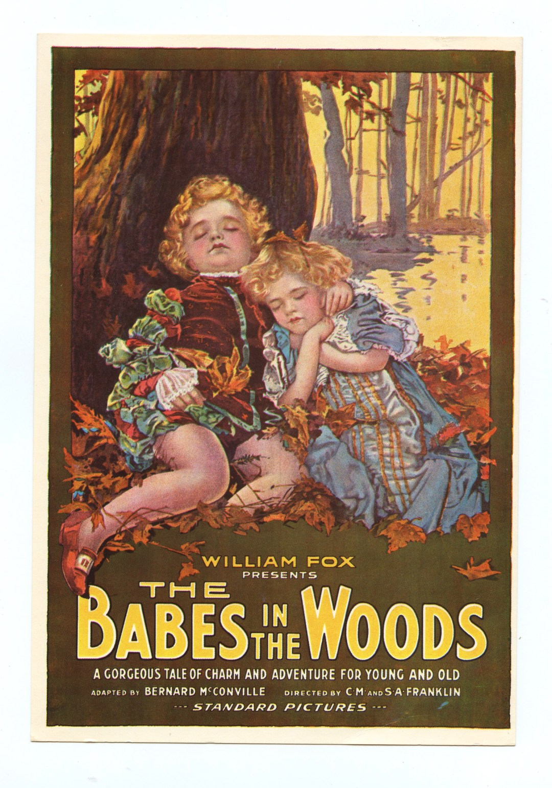William Fox The Babes in the Woods Postcard