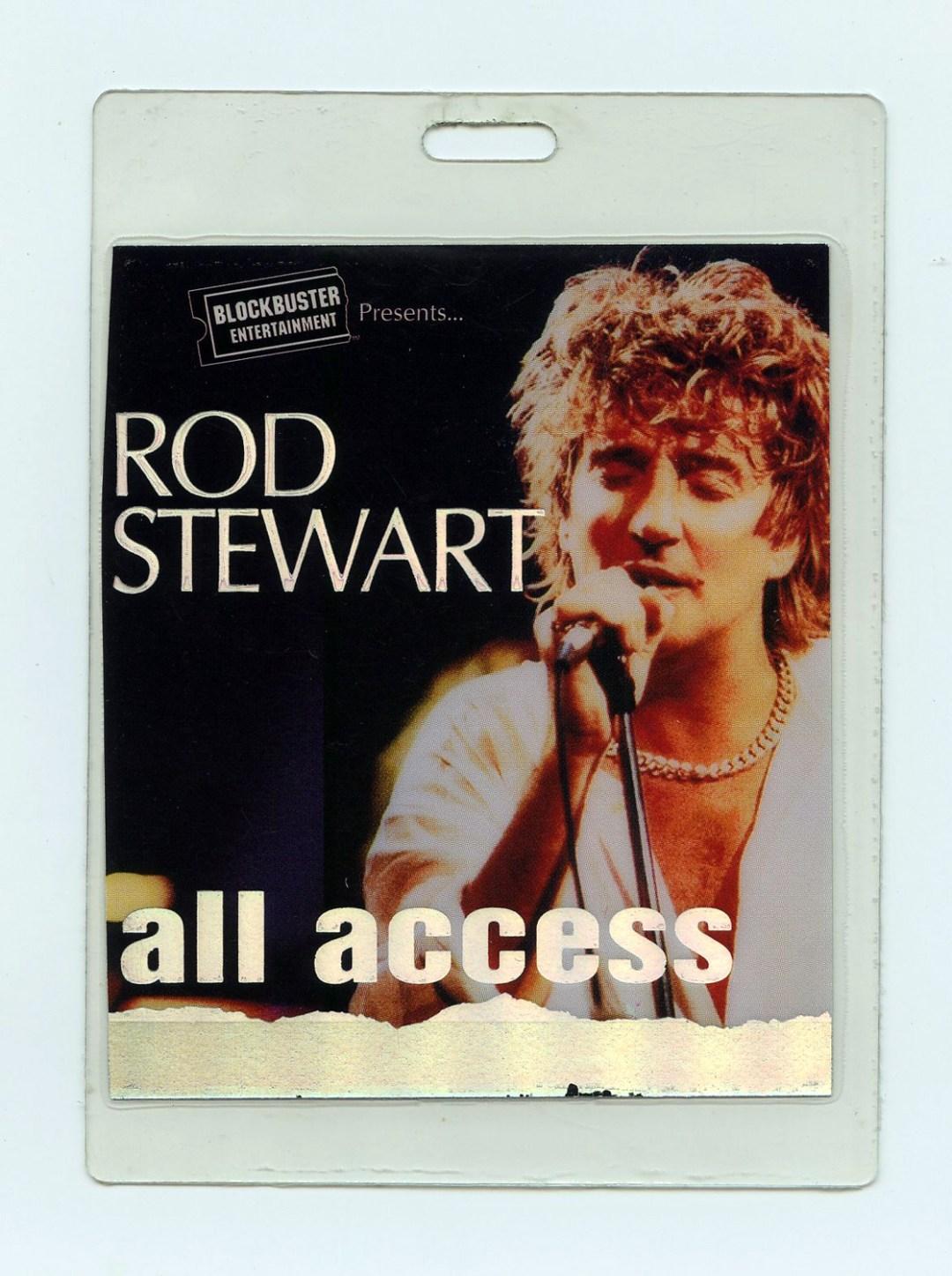 Rod Stewart Backstage Pass Laminated 1993 About Rod Tour