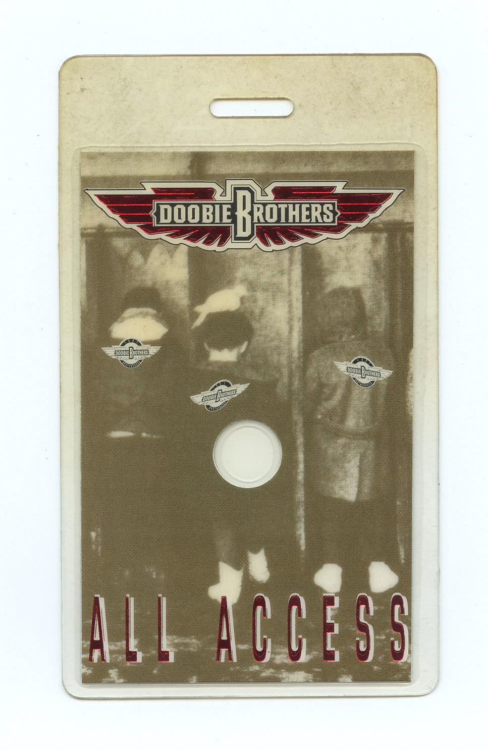 The Doobie Brothers Backstage Pass Laminated 1991 Brotherhood Album Promo Tour