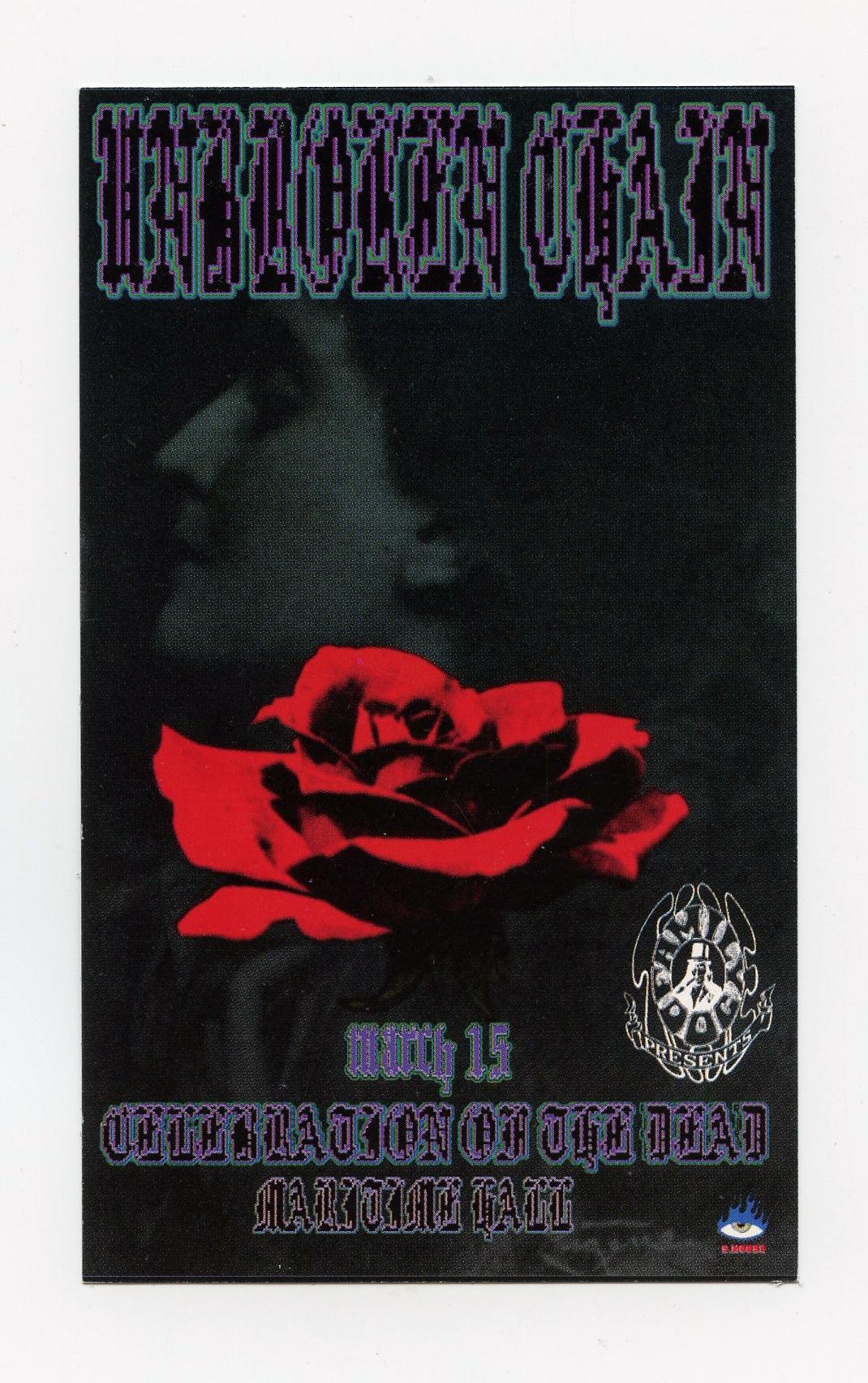 Maritime Hall Handbill 1996 Jan 12 Unbroken Chain Stanley Mouse