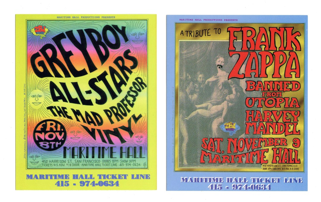 Maritime Hall Handbill 1996 Nov Greyboy All Stars A Tribute to Frank Zappa
