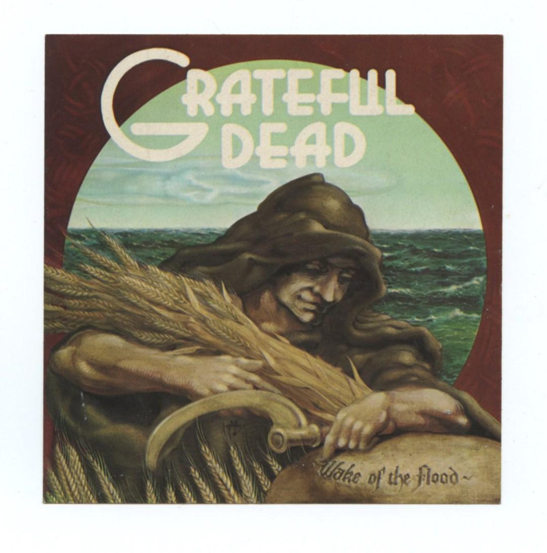 Grateful Dead Sticker 1973 Nov 15 Wake of Flood Album Promo Rick Griffin