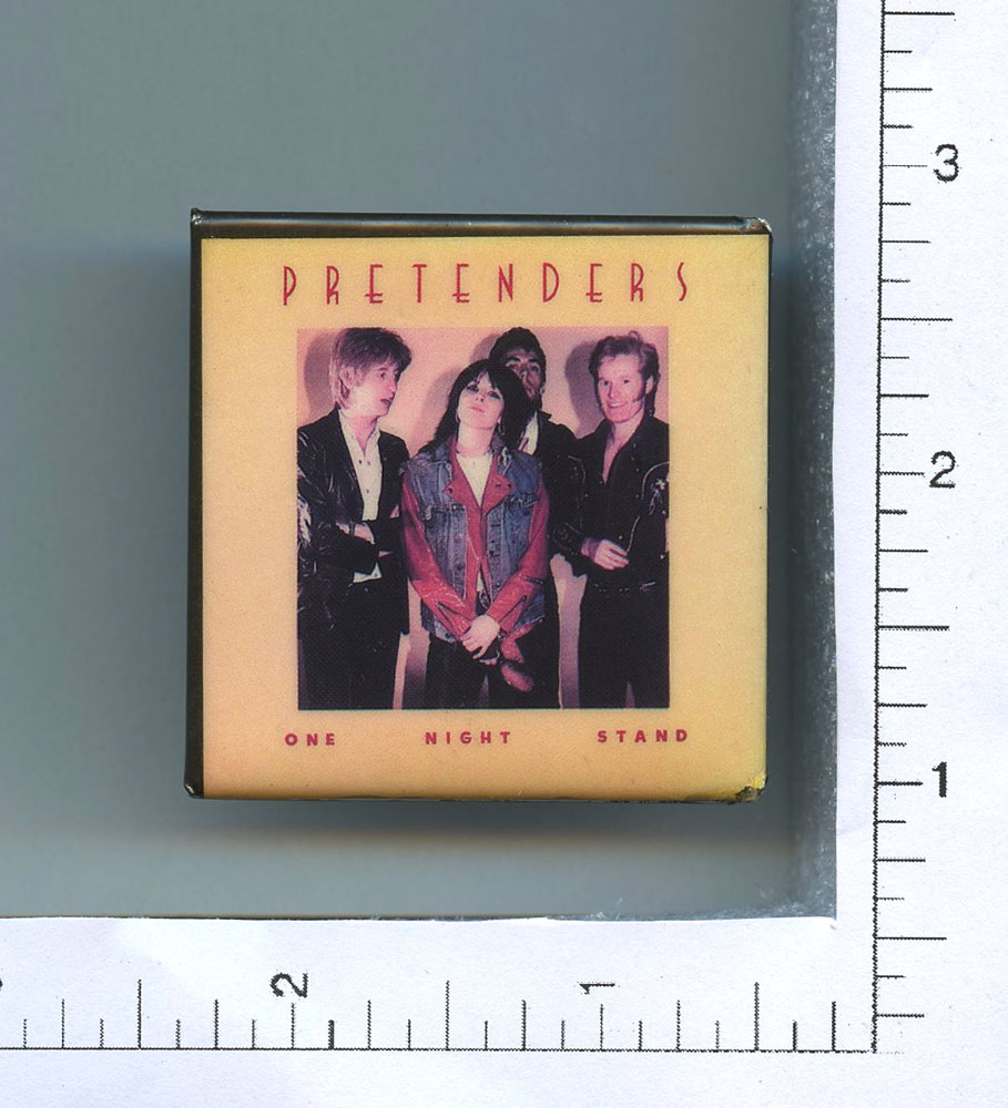 Pretenders Button 1980 One Night Stand