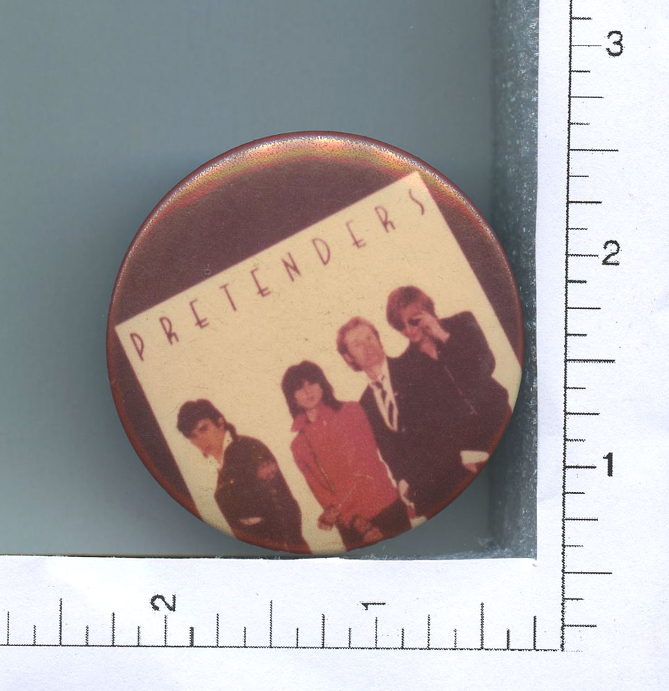 Pretenders Button 1980 One Night Stand 2 1/4