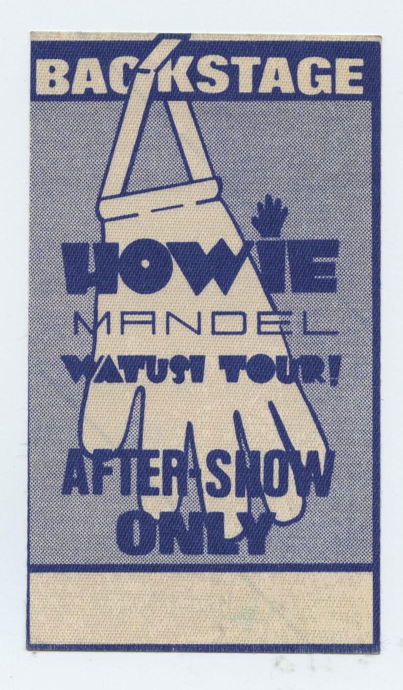 Howie Mandel Backstage Pass 1986 Watusi Tour