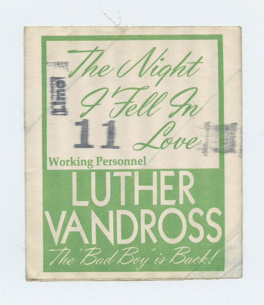 Luther Vandross Backstage Pass 1985 The NIght I Fell In Love Tour