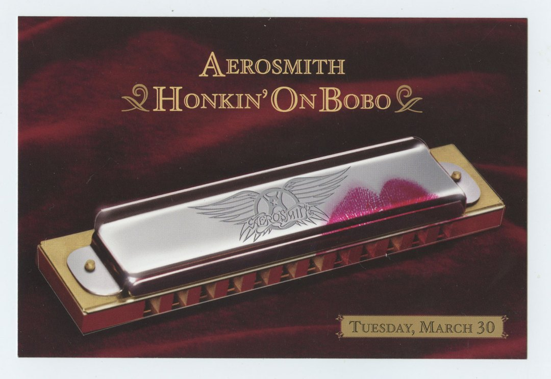 Aerosmith Postcard Honkin' On Bono Promotion 2004