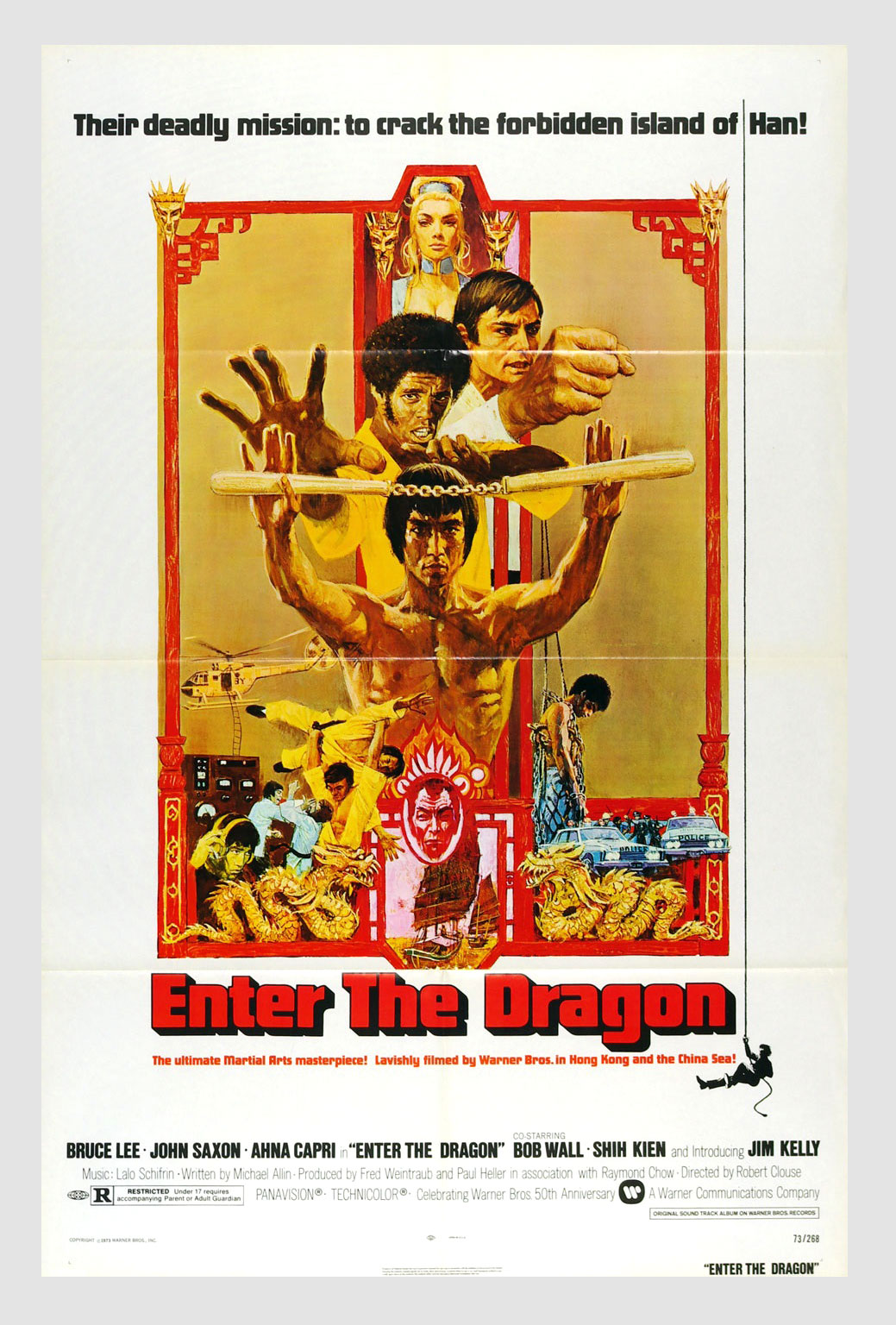 Bruce Lee Enter The Dragon 1973  Movie Poster 27 x 41 1 sheet