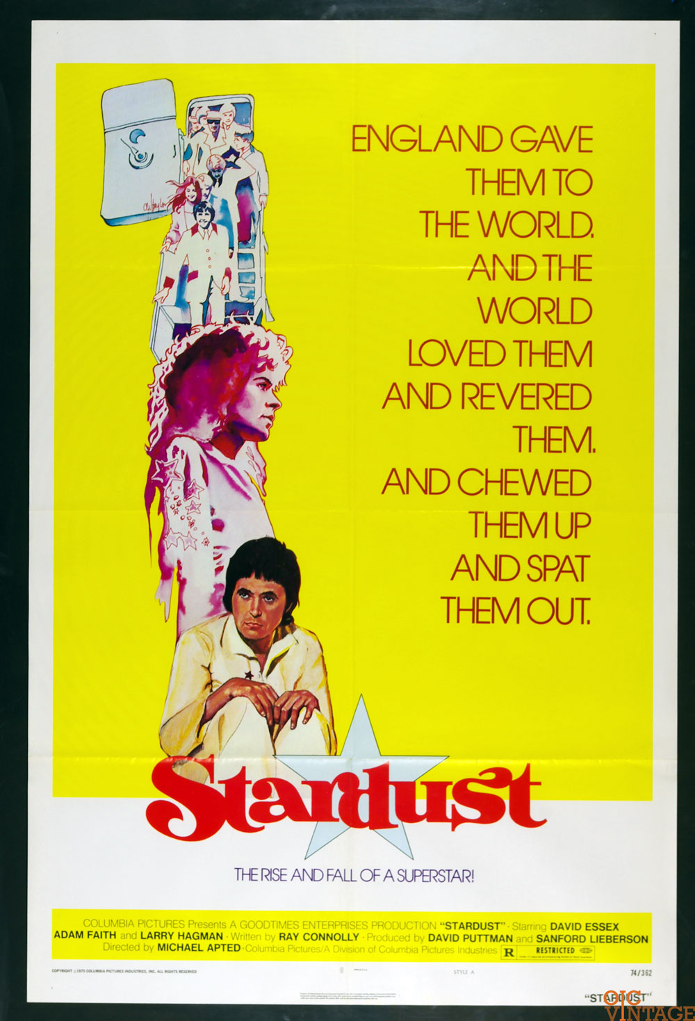 David Essex Adam Faith Stardust 1974 Movie Poster 27 x 41 1 Sheet