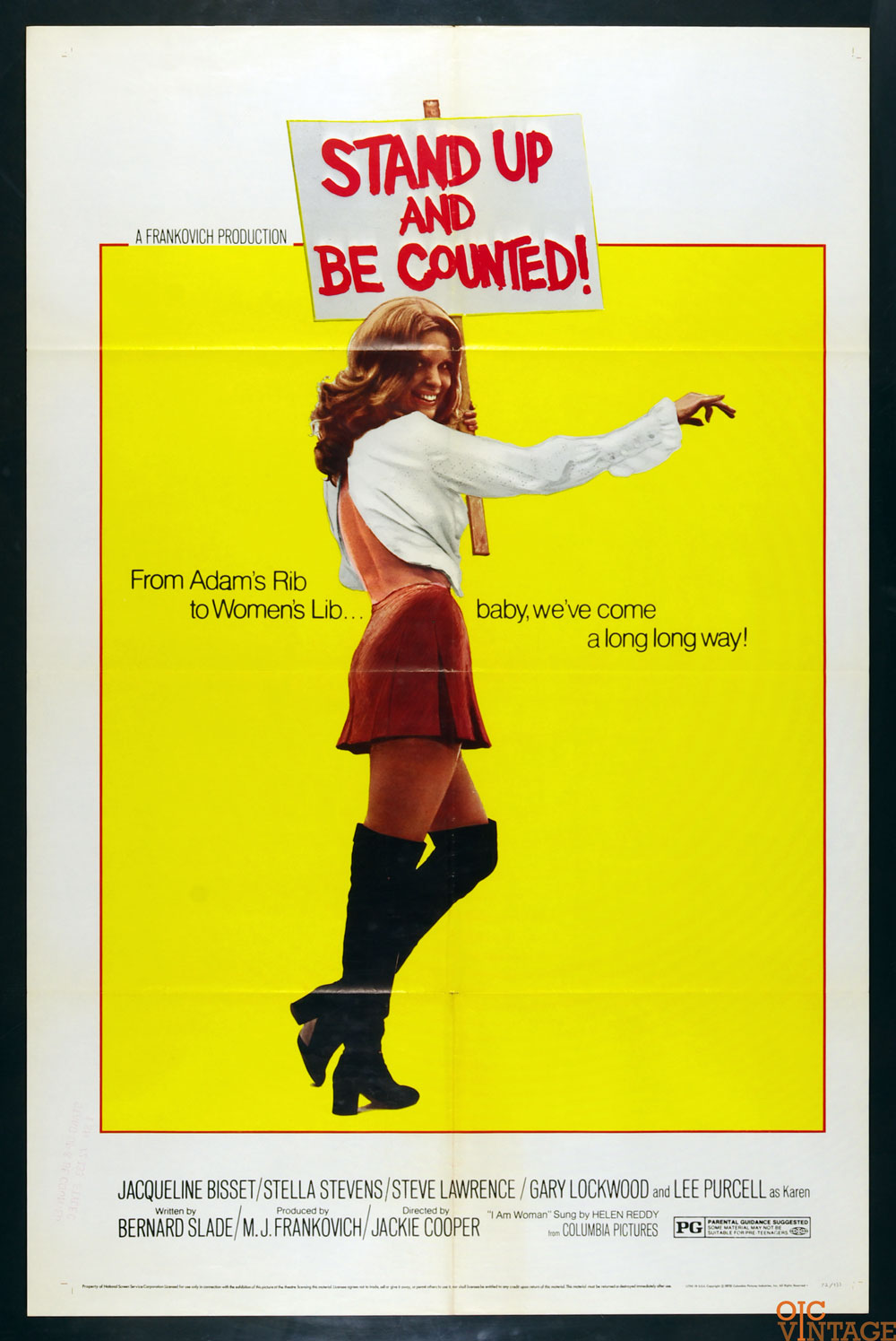 Stand Up and Be Counted Movie Poster 1972 Jacqueline Bisset 27 x 41 1 sheet