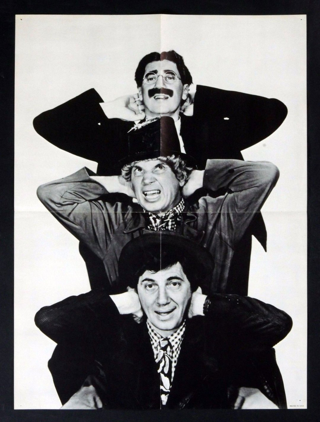 Marx Brothers Vintage B/W Poster 18 x 24 circa 1970's
