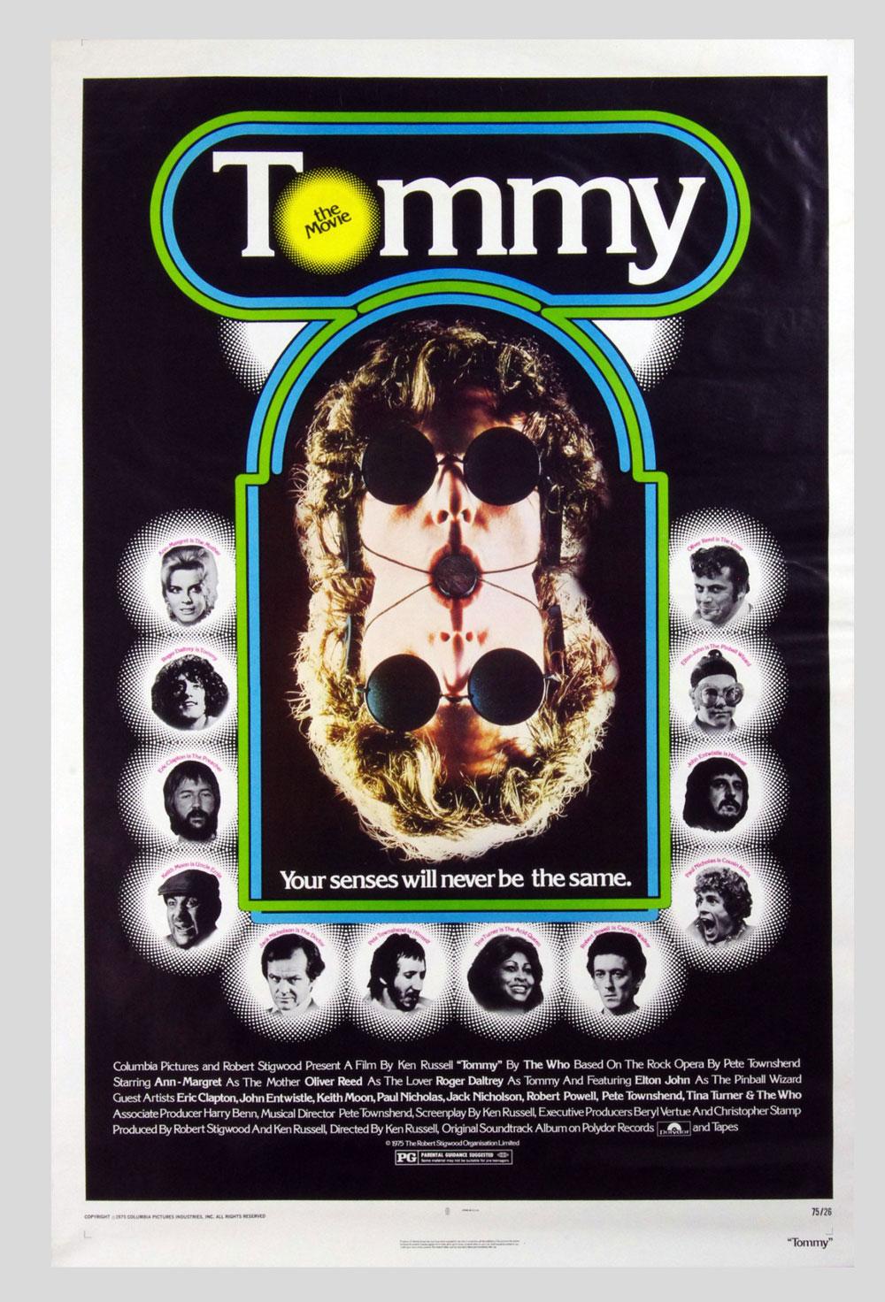 Tommy Poster 1975 Roger Daltery Ann-Margret 27 x 41 1 sheet